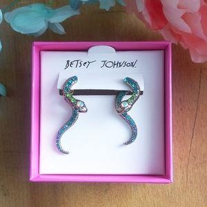 NWT Betsy Johnson Snake Earrings